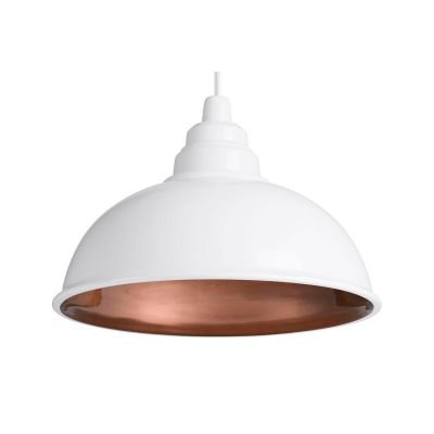 Botega Pendant Lamp White and Copper