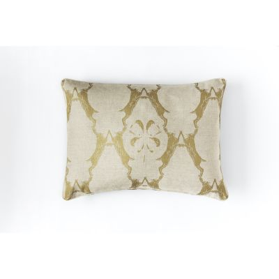 Boxing Hares Cushion Gold