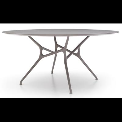 Branch Round Table Polished Chrome Aluminium, Medium
