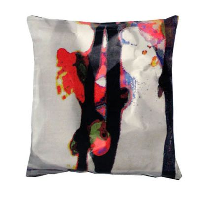 Bright Cherry Blossom Square Satin Cushion Small