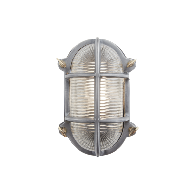Bulkhead Outdoor & Bathroom Oval Light - 6 Inch - Gunmetal Bulkhead Outdoor & Bathroom Oval Light - 6 Inch - Gunmetal - Back Wiring