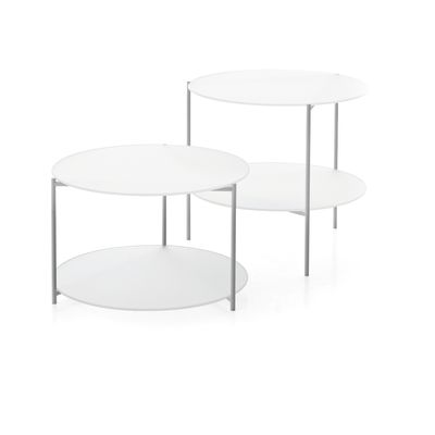 Byobu Round Tables Set Extrawhite
