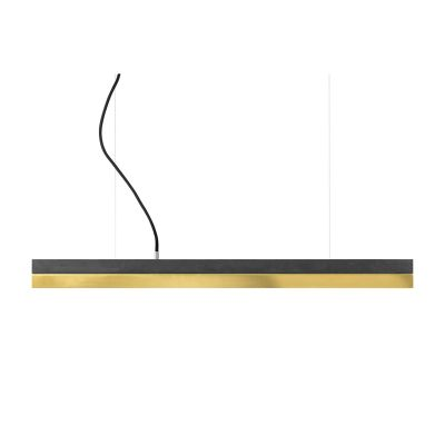 [C] Concrete & Brass Pendant Light Dark Grey, 4000k