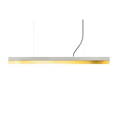 [C] Concrete & Brass Pendant Light Light Grey, 4000k