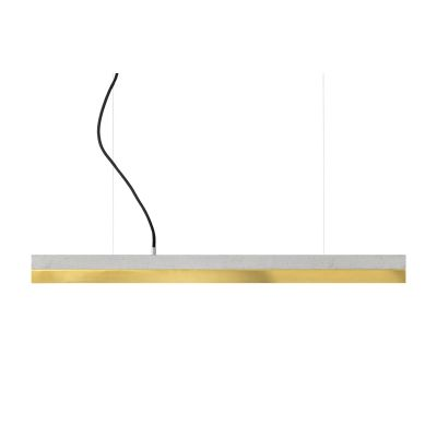 [C] Concrete & Brass Pendant Light Light Grey, 2700k