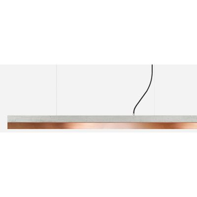 [C] Concrete & Copper Pendant Light Dark Grey, 4000k, [C2] - 92cm
