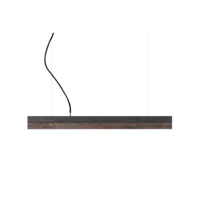 [C] Concrete & Rough Rust Corten Steel Pendant Light Dark Grey, 4000k, [C2] - 92cm