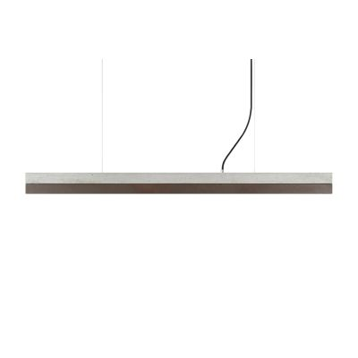 [C] Concrete & Rough Rust Corten Steel Pendant Light Light Grey, 2700k, [C2] - 92cm