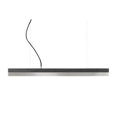 [C] Concrete & Stainless Steel Pendant Light Dark Grey, 4000k, [C2] - 92cm