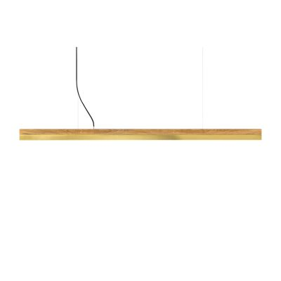 [C] Oak Wood & Brass Pendant Light (92cm, 122cm or 182cm) [C3o] - 182cm, 4000k