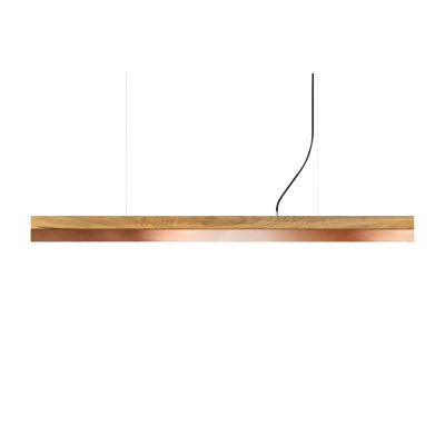 [C] Oak Wood & Copper Pendant Light (92cm, 122cm or 182cm) [C3o] - 182cm, 4000k
