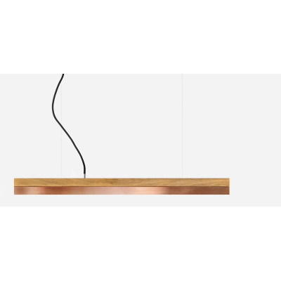 [C] Oak Wood & Copper Pendant Light [C3o] - 182cm, 4000k