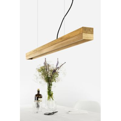 [C1o] OAK - Dimmable LED - Oak & Oak Pendant Light Non-dimmable
