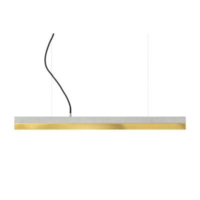 [C2] Concrete & Brass Pendant Light Light Grey, Yes