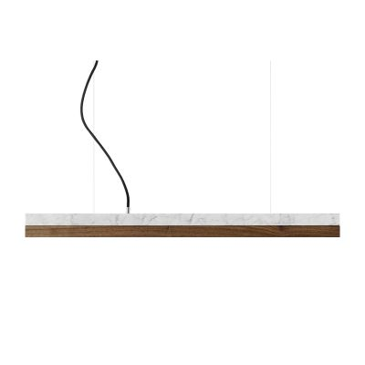 [C2m] Marble Pendant Light (92cm) Carrara, Walnut, 4000k