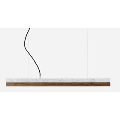 [C2m] Marble Pendant Light Carrara, Walnut, 4000k