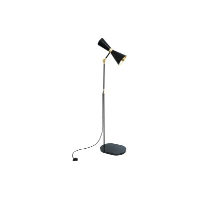 Cairo Floor Lamp Powder Coated White, UL Plug
