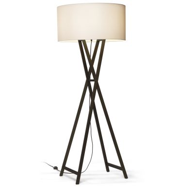 Cala Floor lamp Marset - Black pigmented Oak, 179.5cm