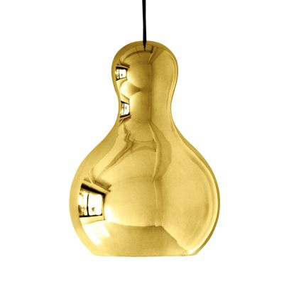 Calabash Pendant Light Gold Chromed, Large, 6 m cord