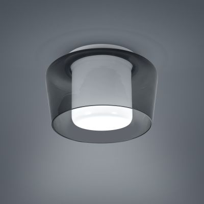 Canio Ceiling Light Glass Grey