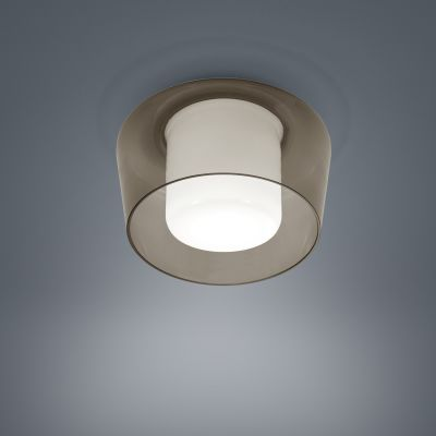Canio Ceiling Light Glass Amber
