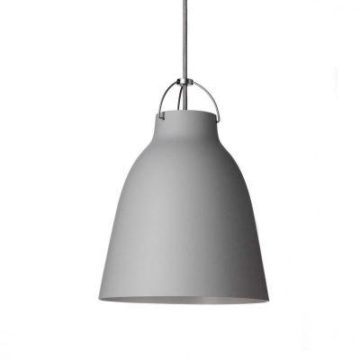 Caravaggio Matt Pendant Light P2 Medium, Light grey, 3 m cord