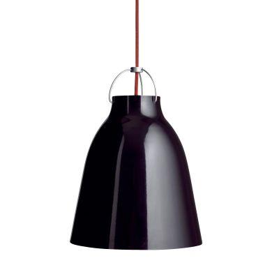 Caravaggio Suspension Lamp Black/Glossy/Cable Red/11cm