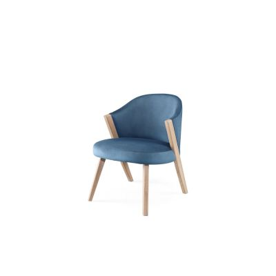 Caravela Lounge Chair Oak Natural, Lana 007 Canary