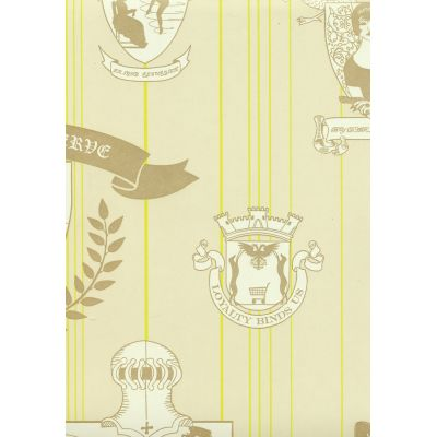 Carpe Noctem Wallpaper Lime, Gold