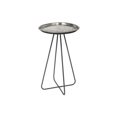 Casablanca Side Table Silver