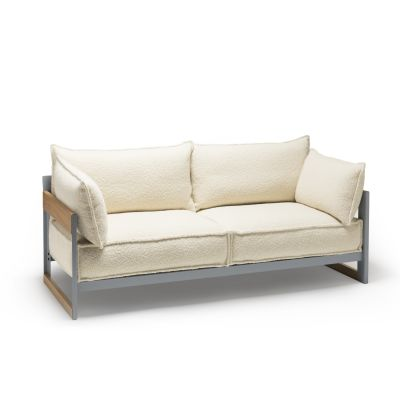 Cassette Sofa 165, Grey, Oiled Oak, Maya