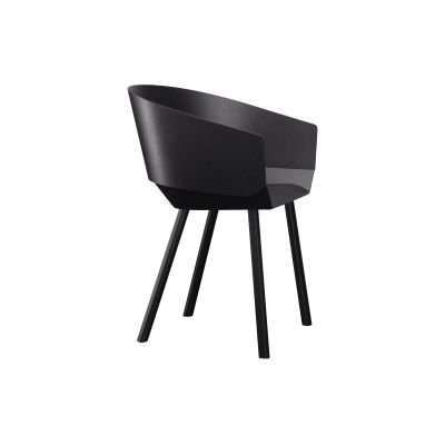 CH04 Houdini Dining Chair with Armrests Flame