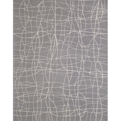 Cha Cha Screen Printed Rug Grey, Large