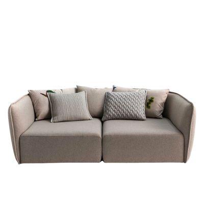 Chamfer 3 Seater Sofa A5081 - Elastic 1 Uniform Melange Hydro, 270 x 95 x 74