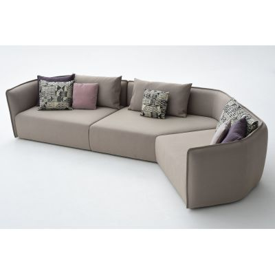 Chamfer A40 Composition Sofa A5081 - Elastic 1 Uniform Melange Hydro, Right