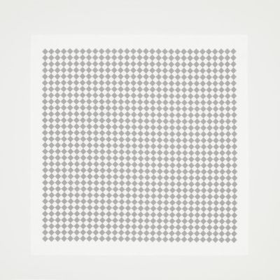 Checker Tablecloth Grey