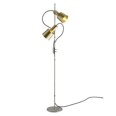 Chester Floor Lamp Satin Brass