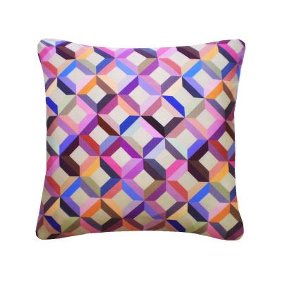 Chevron Printed Square Cushion  Multi