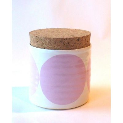 Circles Sugar Jar Pink