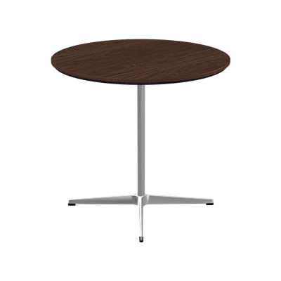 Circular Dining Table - 4-star base Laminate Special Colour Grey Efeso