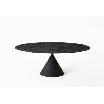 Clay Table - Oval 120 x 180cm, D64 Tufo Stone, No
