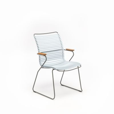 Click Dining Chair Tall Back Dusty Light Blue