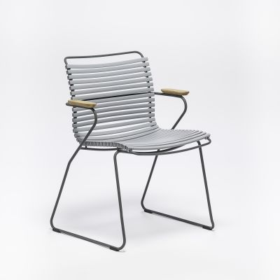 Click Dining Chair With Armrests Dark Blue