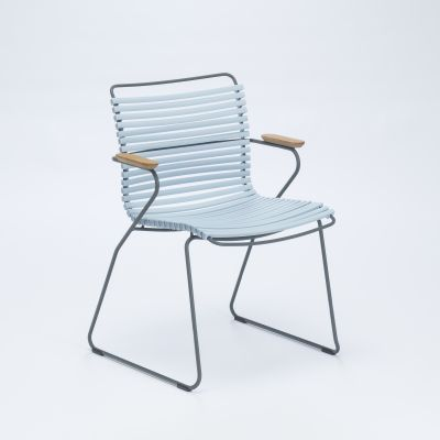 Click Dining Chair With Armrests Dusty Light Blue