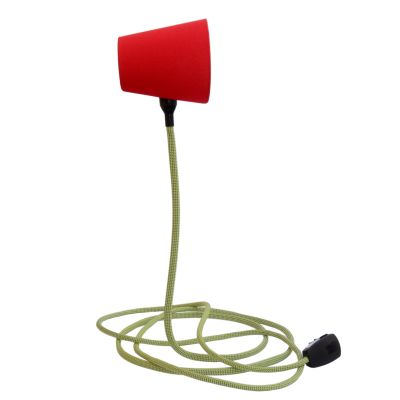 Climbing Table Lamp Red Hat and Green Rope