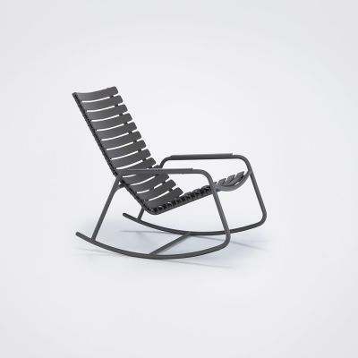 Clips Rocking Chair - Mono Colour Clay, Aluminium