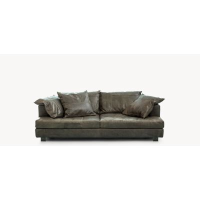 Cloud Atlas Sofa B0225 - Leather Saffiano yellow, Natural Ash, 280 X 110