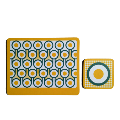 Coaster & Placemat Set  Fried Eggs
