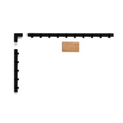 Coatrack by the Meter set 'around the corner' in black