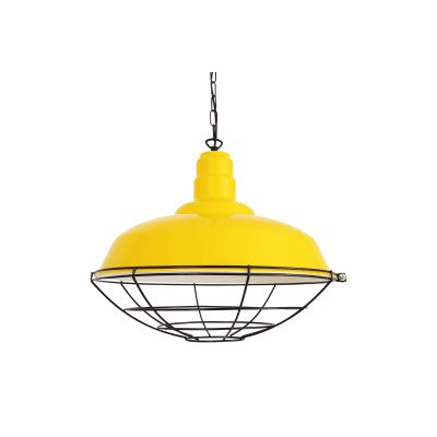 Cobal Pendant Light Powder Coated Yellow
